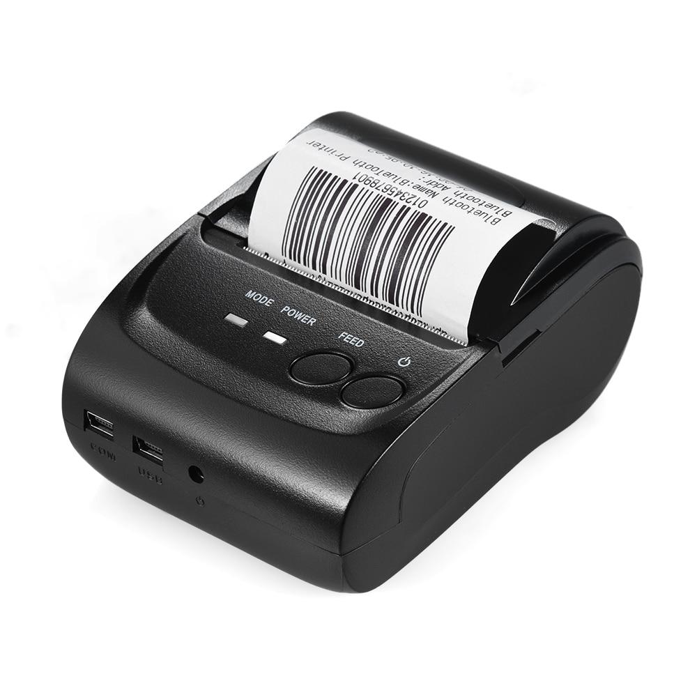 POS 5802DD Mini Portable BT USB Thermal Printer Receipt Ticket POS Printing for iOS Android Windows