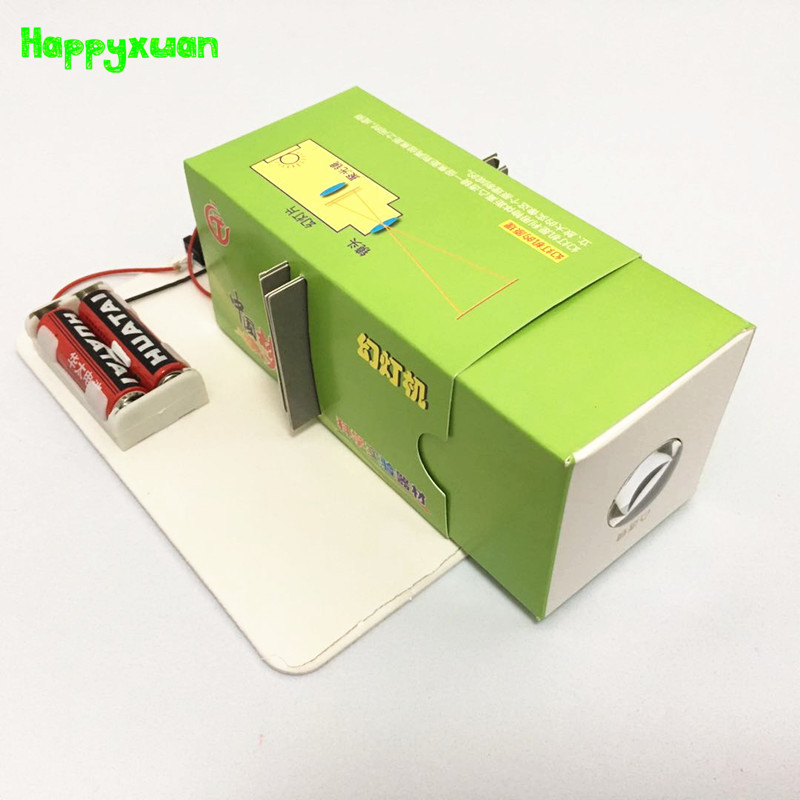 Happyxuan DIY Paper Slide Projector Kit Optic Education Kids DIY Project Experiment Physics Science Teaching Aids Discovery toy