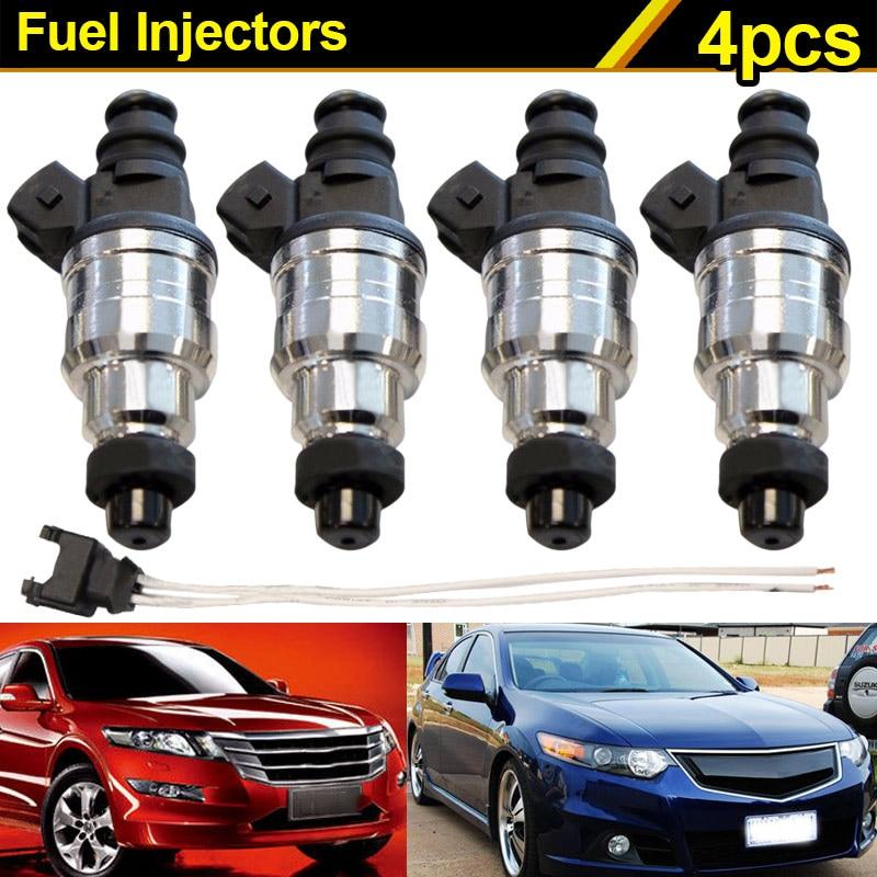 4Pcs 550cc Fuel Injectors for HONDA Acura Turbo Booset With Pigtails EV1 JDM VTEC CSL2017 топливная форсунка 4 42lb ev1 e30 s14 m10 turbo dohc 420a tt 1 8t turbo 2 3 440cce