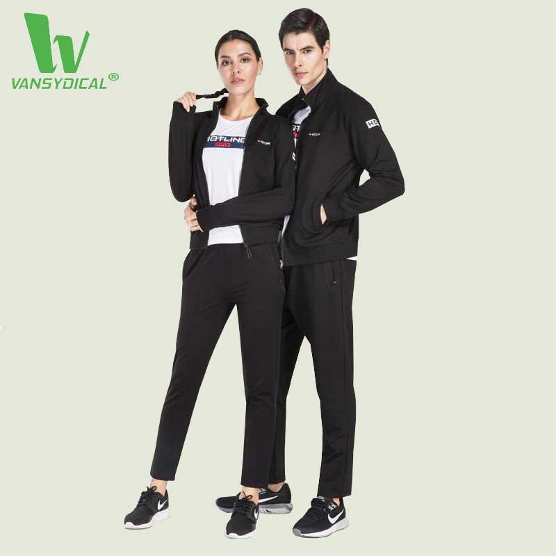 VANSYDICAL Jogging Suits For Women Men Fitness Tracksuit Yoga Set Gym Running Set Sportswear Leggings Workout Sports Clothing XL