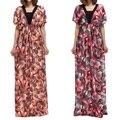 2017 Крупных Женщин Размер Dress Партии С Коротким Рукавом Платья Летом Стиль сексуальный Плюс Размер Повседневная Печати Большой Размер Dress Vestidos 6xl 5xl