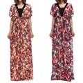 2017 Large Size Women Dress Short Sleeve Party Dresses Summer Style Sexy Plus Size Casual Print Big Size Dress Vestidos 6xl 5xl