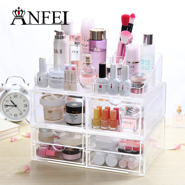 Aliexpresscom Buy Home Storage Container 6 Drawers Acrylic Makeup