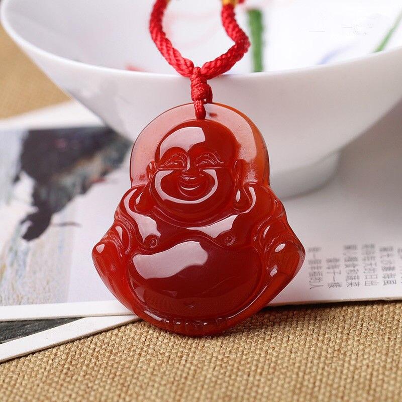 Selling jewerly >new natural boutique red new Buddha pendant pendant jewerly chalcedony Buddha>free shipping