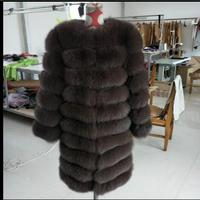 2017 New Fox Fur Fur Coat In The Long Section Of A Short Paragraph One Wearing