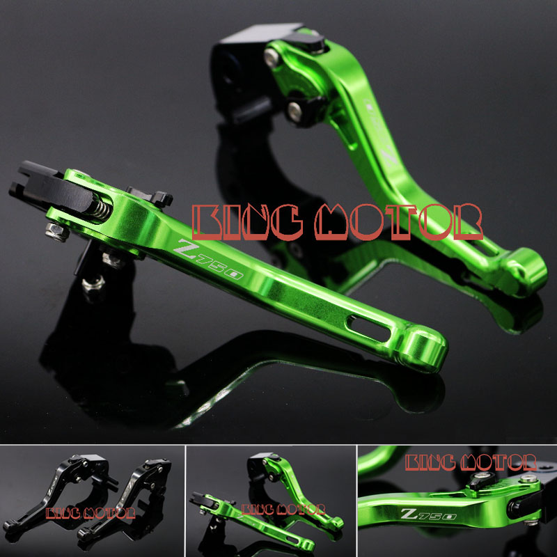 Motorcycle Accessories Short Brake Clutch Levers Green For KAWASAKI Z750R Z 750R 2011-2013