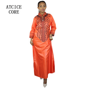 Image 4 - african bazin riche embroidery design dress only one dress LA066#