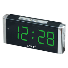 2017 24 Hours Hotel Lobby alarm clock . 1.8 inch big number table clock with AC power eu plug Large display desktop timer.