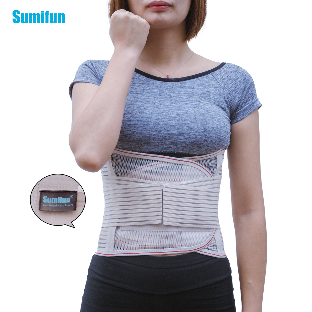 Support Belt for Sciatica, Scoliosis or Herniated Disc Waist Belt Lumbar Support Back Waist Support Brace Double Banded Z69502