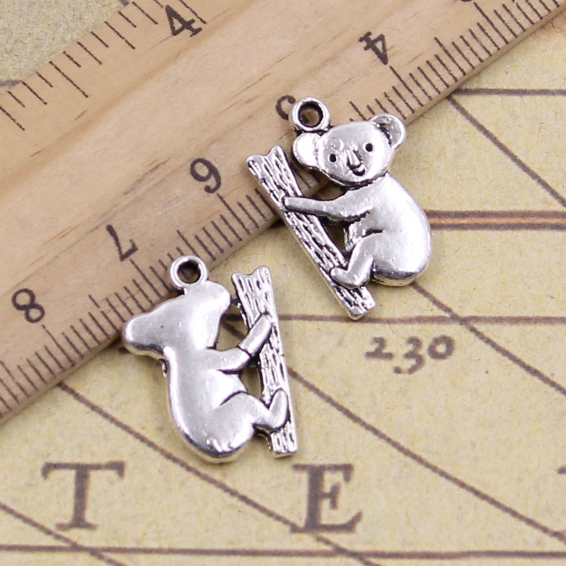 Jewellery Making Pendant 20 x Teddy Bear Silver Tibetan Metal Charms