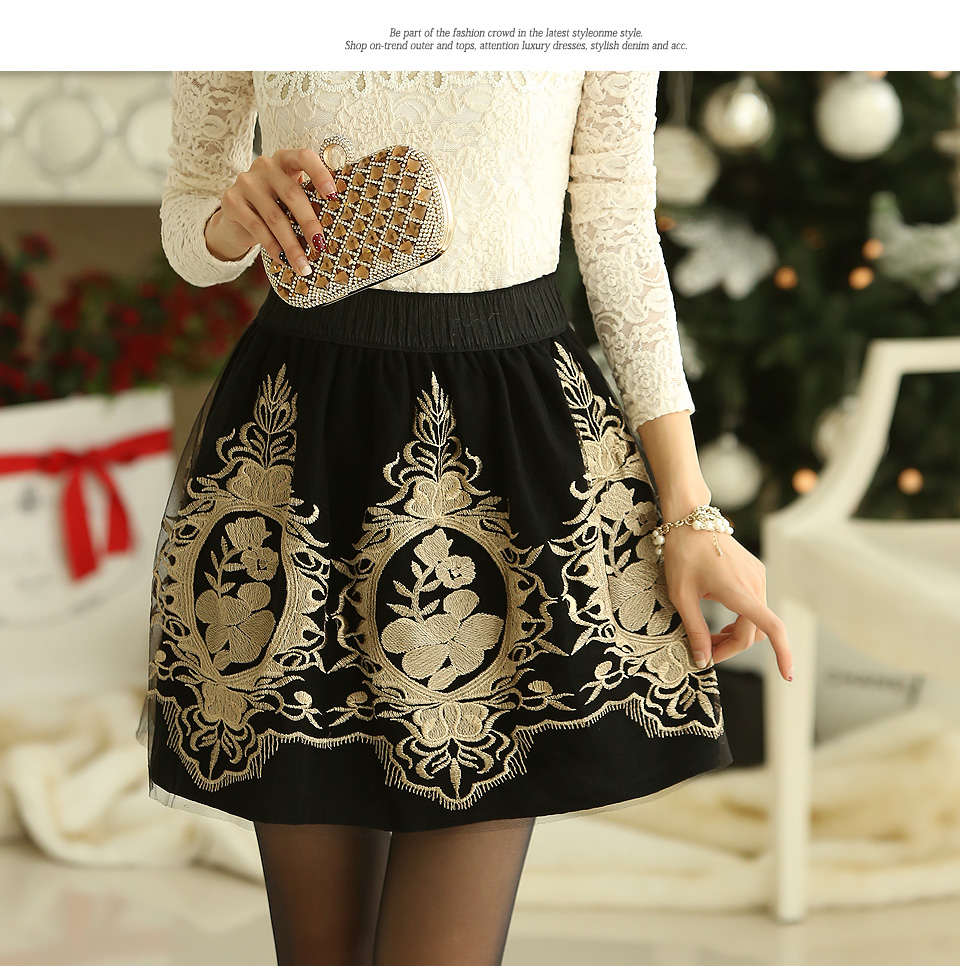 Фатиновая юбка вышивка