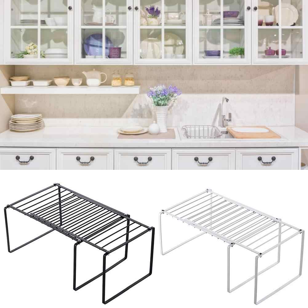 Retractable Kitchen Storage Rack Bowl Pan Rack Cabinet Shelf ...