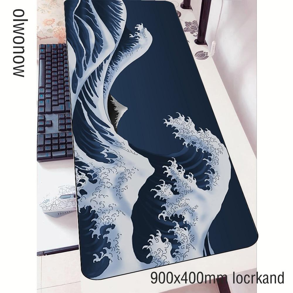Art tapis de souris gamer moins cher 900x400mm notbook tapis de souris tapis de souris de jeu HD tapis dimpression souris PC bureau tapis de souris