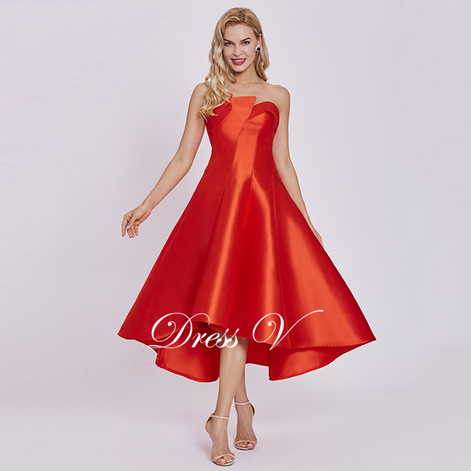 b6498f5cb3ea8 Dressv Homecoming Dress Cheap Red A Line Ankel Length Cocktail Party Dress  Pearl Pink Strapless