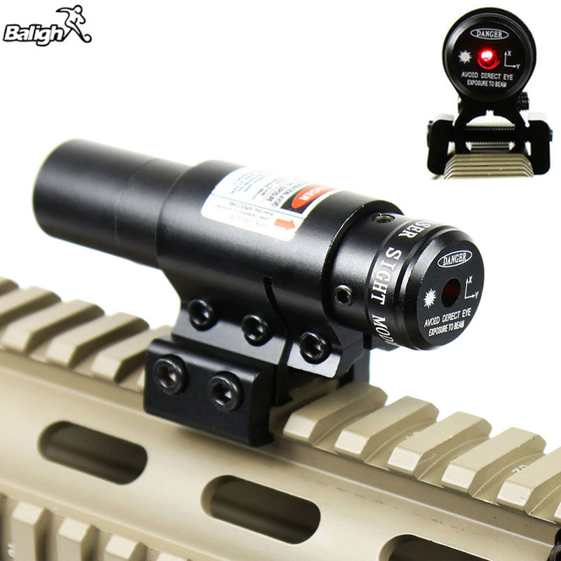 Balight Newest Wholesale 11mm / 20mm Tactical Hunting Gun Red Dot Laser Sights Scope + Gun Rifle Pistol Mount