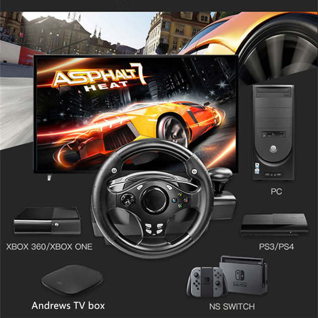 Car Simulator Games >> Us 103 98 20 Off Computer Game Steering Wheel Car Driving Simulator Training Aircraft Test Drive School Automobile Race Vibration 270 Degrees In