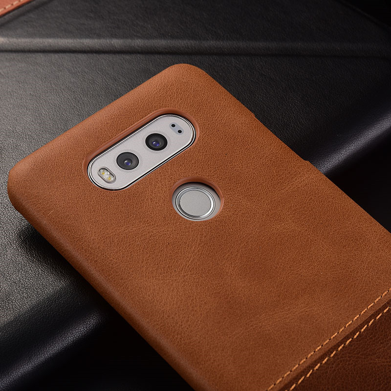 Luxury brand thin vintage genuine leather back cover case