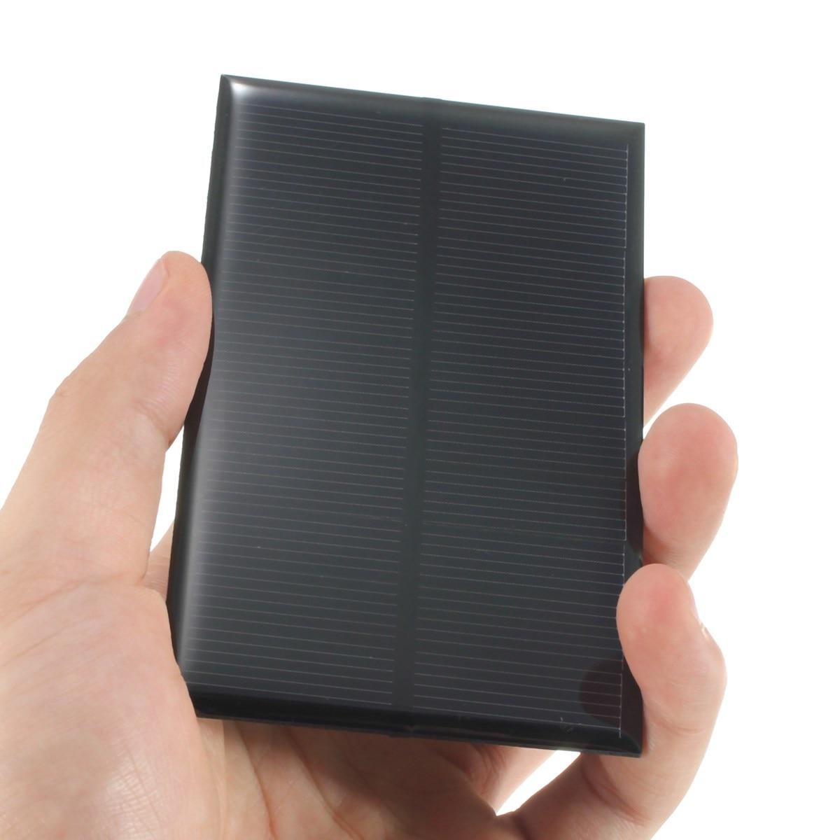 цена 5V 1.25W 250mA Monocrystalline Silicon Epoxy Solar Panels Module kits Mini Solar Cells For Charging Cellphone Battery 110x70mm