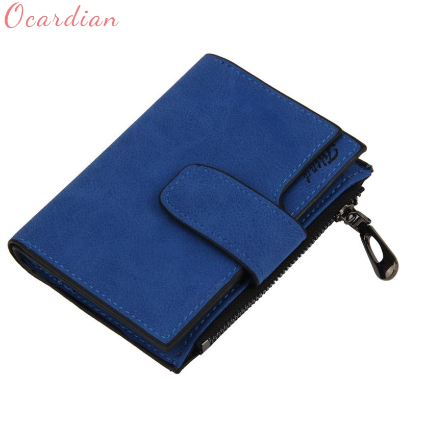 Women Mini  Grind Magic Bifold Leather Wallet Card Holder Wallet Purse Drop Shipping Wholesale Fashion women purse solid color mini grind magic bifold leather wallet card holder clutch women handbag portefeuille femme dropshipping