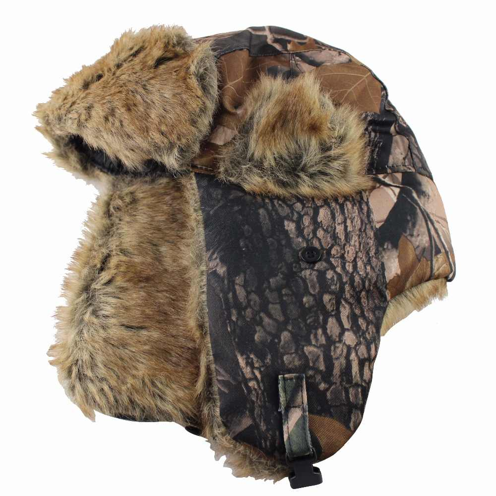 5a8711e8764c0 ... 2018 New Men Bomber Hats Winter Trooper Trapper Hat Ushanka Russian Hat  with Faux Fur Outdoor ...