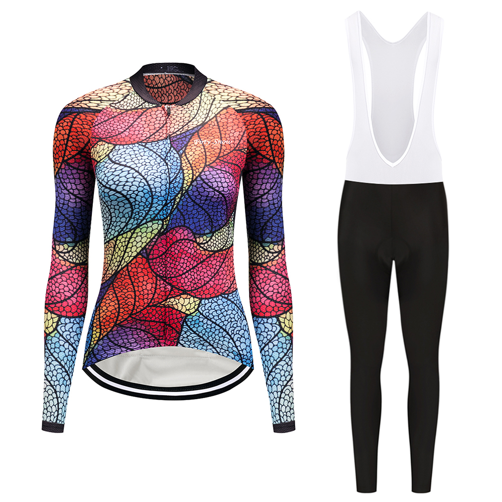 Cycling Jerseys Suit 2017New Spring Long Sleeve Woman UV Protect Mountain Bike Quick Dry Breathable Riding Jersey Clothing Sets