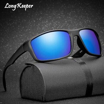 db6946de92 Gafas de sol polarizadas clásicas para hombre, Gafas de sol rectangulares  para conducir, Gafas de sol con espejo, Gafas de protección UV 100% por  largo ...