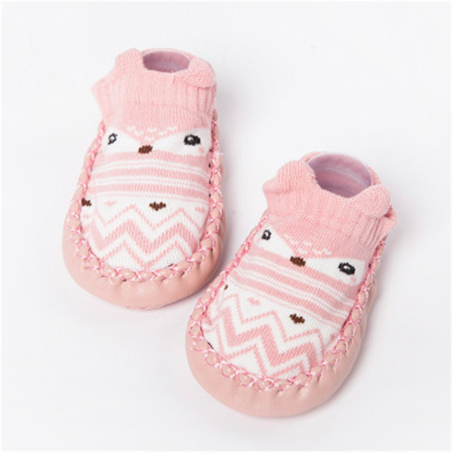 2019 Baby Foot Socks With Rubber Infant Sock For Newborn Baby Boys Girl Children Floor Socks Shoes Anti-Slip Soft Soles Sokken 4