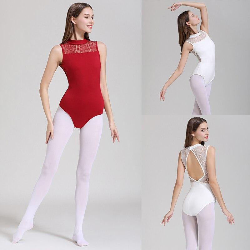 Ballet Leotards Adult 2019 Elegant High Collar Practice Ballet Dancing Costume Women Gymnastics Leotard Dance Coverall