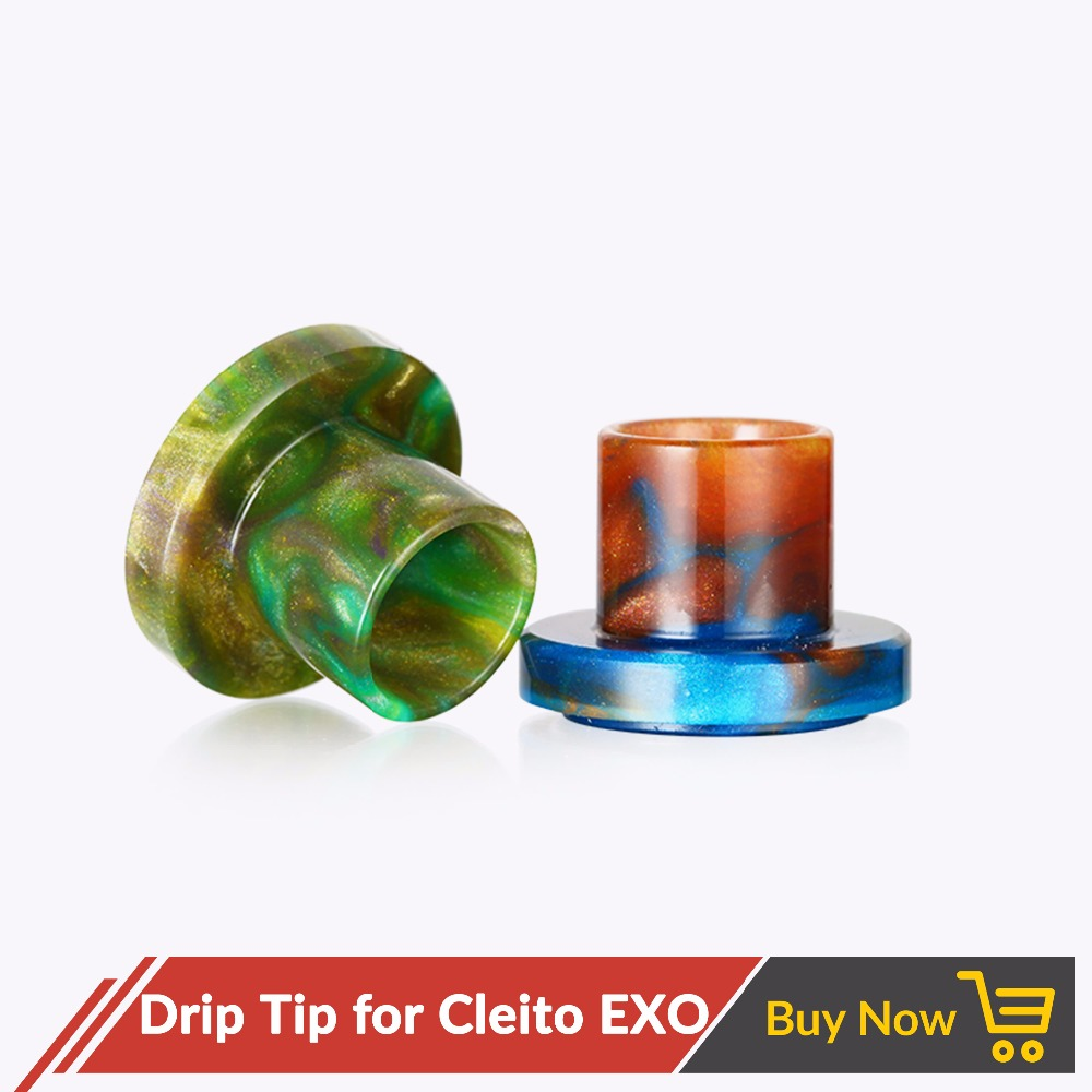 Volcanee 1pcs Epoxy Resin Drip Tip Mouthpiece Drip Caps for Cleito EXO fit Electronic Cigarette Cleito EXO Tank Atomizer  кальян из эпоксидной смолы