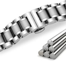 Steel Strap 13mm 14mm 16mm 18mm 20mm 22mm 24mm Metal Watch Band Link Bracelet Watchband Black Silver Rose Gold цена