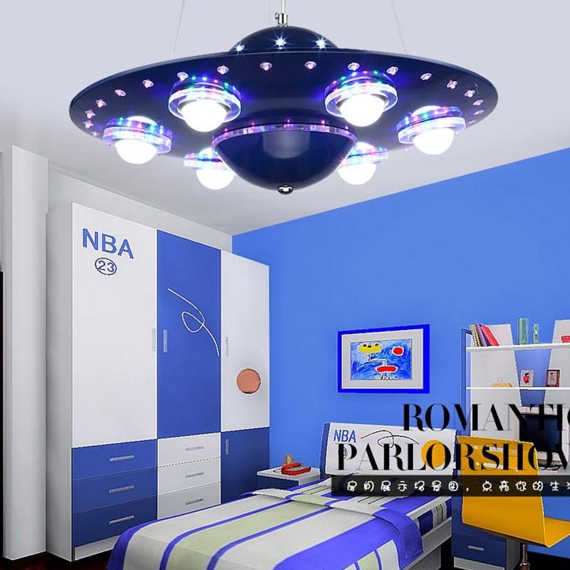 Ufo Kids Room Pendant Lightslampadario Bambini Abajur Infantil De Quarto Chandelier For Children Babyroom Deco Enfant Chambre