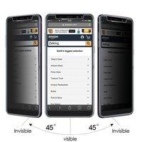 Filtro de privacidad de vidrio templado, película de cobertura completa, Protector de pantalla antiespía para Samsung galaxy A8 2018/A8 PLUS 2018