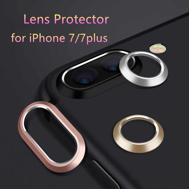 Luxury Camera Guard Circle Metal Lens Film Protector Case Cover Ring Bumper for iphone 7 7Plus 8 8 Plus X lens Protection Ring