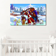Beauty Beast Anime Christmas Wallpaper HD Wall Art Canvas Poster Print Painting Decorative Picture For Bedroom Home Decor