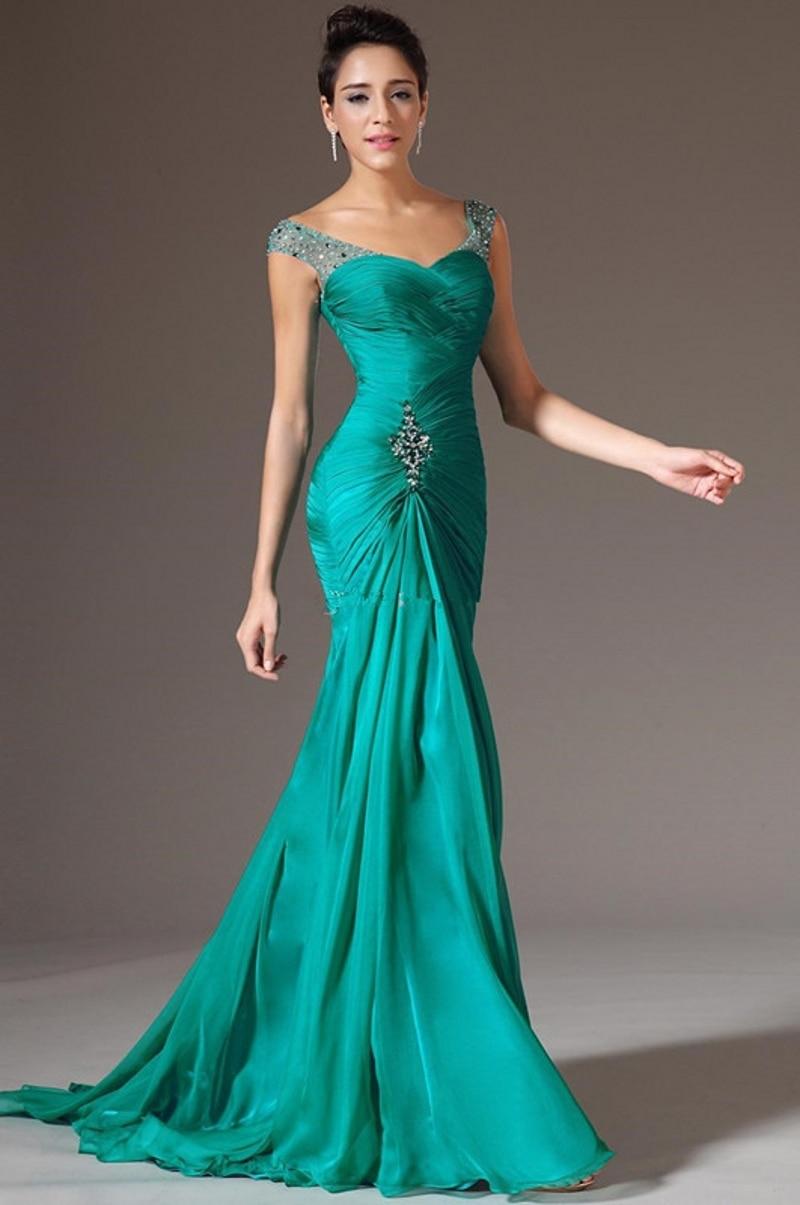 Vestidos de fiesta largos color verde menta