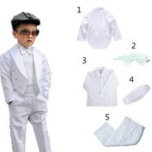 Boy Blazer Suits Black/white Costume Wedding/tuxedo-Suits Formal Baby Kids/children Marriages/perform-Dress