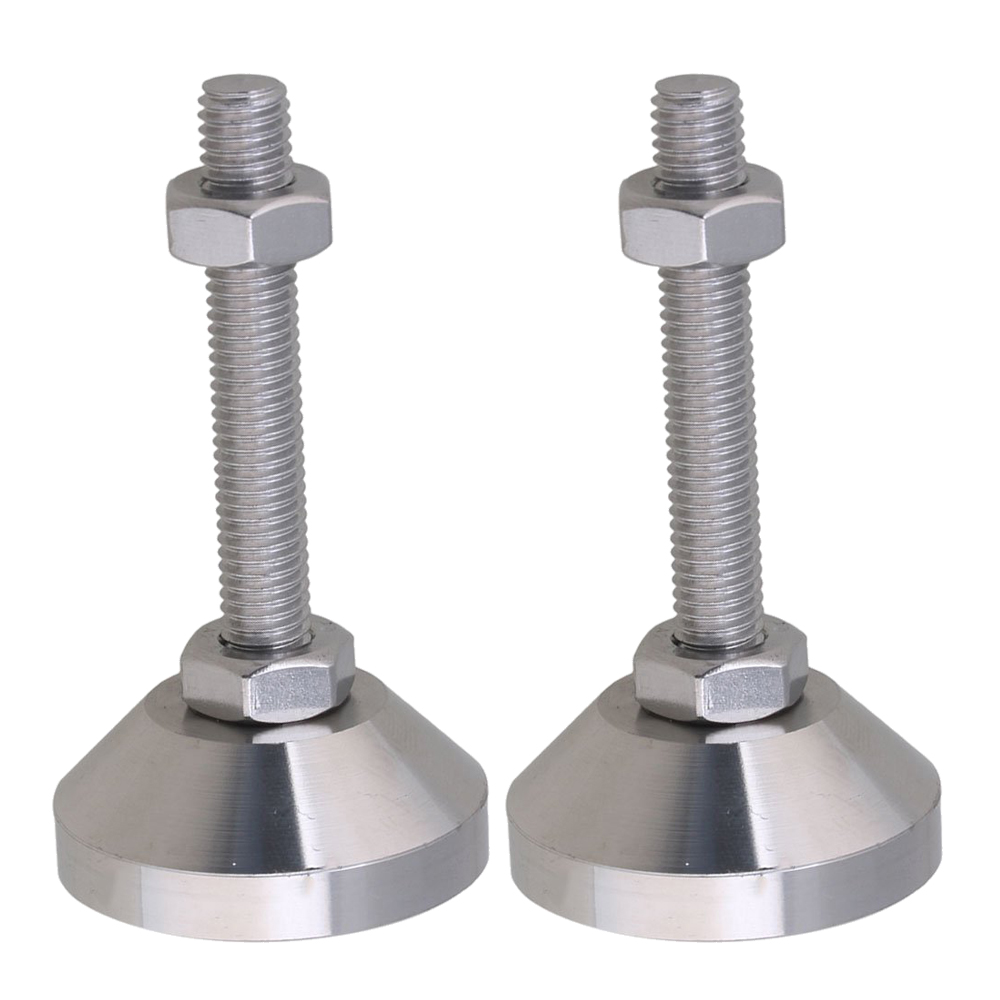 4pcs Stainless Steel 40mm Dia M8x50mm Thread Fixed Adjustable Feet For Machine Furniture Feet Pad Max Load 1Ton