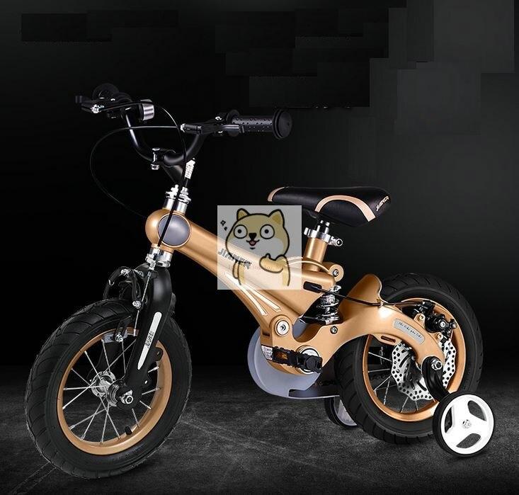 Vélo pour enfants avec ressorts élastiques élevés 12 pouces 14 pouces 16 pouces freins à disque en alliage de magnésium vélo pour enfants
