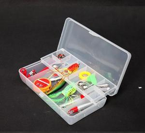 Image 5 - Double layer Fishing accessory box 20*10*4cm Multifunctional Plastic Fishing Lure Bait Hooks Tackle multi Compartments pesca