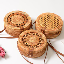 Round Bohemian Rattan Bags for Women 2019 Hollow Out Ins Hot