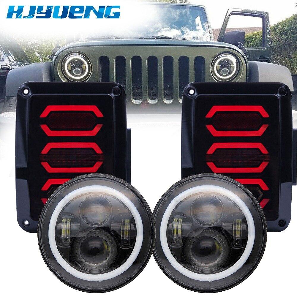 7 дюймов 40 W Светодиодный фар DRL и США/ЕС издание реверса тормоза сигнал поворота светодиодный задний свет 0 7-16 для Jeep Wrangler светодиодный свет