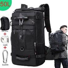 KAKA 50L مقاوم للماء حقيبة السفر الرجال النساء متعددة الوظائف 17.3 محمول حقائب الظهر الذكور في الهواء الطلق حقيبة الأمتعة mochilas أفضل جودة
