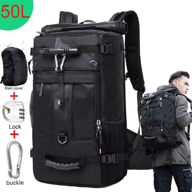 KAKA 50L Waterproof Travel Backpack Men Women Multifunction 17.3 Laptop Backpacks Male outdoor Luggage Bag mochilas Best quality