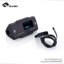 B-PRE-SC-AL bykski الأسود ضغط متر شاشة ديجيتال قياس الضغط الفورية مونتورينغ pc مياه التبريد أداة OLED