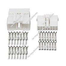 14 Pin Автомобильные Разъемы белый мужской женский Автомобильные Разъемы с терминалом DJ7142-2.2-11/21 14 P