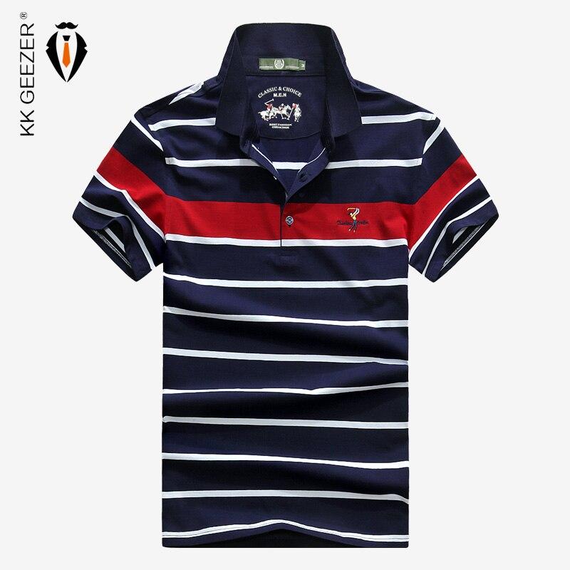 Herrenbekleidung & Zubehör Polo Männer Gestreiften Polos Shirts Sommer 95% Kurzarm Baumwolle Casual Business Marke Anti-falten Atmungsaktiv Hohe Qualität Blau Hemd Bequem Und Einfach Zu Tragen