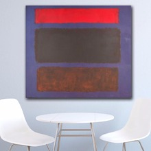Wall Pictures For Living Room Abstract Mark Rothko No. 16 1960 Canvas Art Home Decor Modern No Frame Oil Painting цена