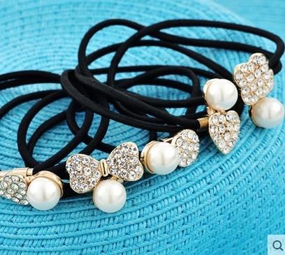 Free shipping  2015 hot saleHair bales mail hair ring hair rope diamond Han Fan rope