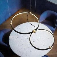 Moderen подвесные светильники промышленные круг светодиодные лампы Nordic hanglamp бар кофейня Круглый кольцо звезда hanglamp блеск приспособление