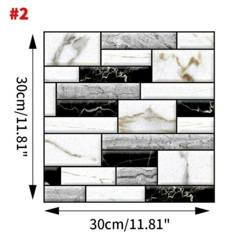 Image 4 - Home Office 3D Brick Waterproof Wall Sticker Self Adhesive Panel Décor Removable-in Wall Stickers from Home & Garden